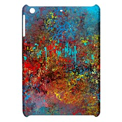 Abstract In Red, Turquoise, And Yellow Apple Ipad Mini Hardshell Case by digitaldivadesigns