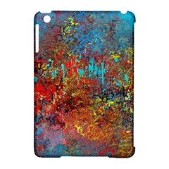 Abstract In Red, Turquoise, And Yellow Apple Ipad Mini Hardshell Case (compatible With Smart Cover) by theunrulyartist