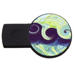 Abstract Ocean Waves Usb Flash Drive Round (2 Gb)  by theunrulyartist
