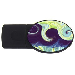 Abstract Ocean Waves Usb Flash Drive Oval (2 Gb)  by digitaldivadesigns