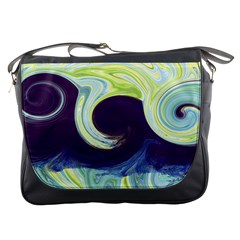 Abstract Ocean Waves Messenger Bags by theunrulyartist