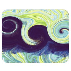 Abstract Ocean Waves Double Sided Flano Blanket (medium)  by theunrulyartist
