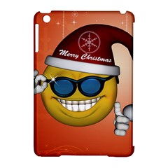 Funny Christmas Smiley With Sunglasses Apple iPad Mini Hardshell Case (Compatible with Smart Cover) by FantasyWorld7