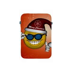 Funny Christmas Smiley With Sunglasses Apple Ipad Mini Protective Soft Cases