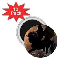 Awesome Dark Unicorn With Clouds 1 75  Magnets (10 Pack)  by FantasyWorld7