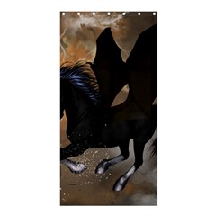 Awesome Dark Unicorn With Clouds Shower Curtain 36  X 72  (stall)  by FantasyWorld7
