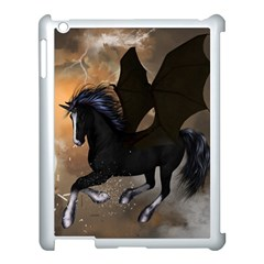 Awesome Dark Unicorn With Clouds Apple Ipad 3/4 Case (white) by FantasyWorld7