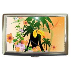 Cute Toucan With Palm And Flowers Cigarette Money Cases by FantasyWorld7