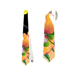 Cute Toucan With Palm And Flowers Neckties (One Side)  by FantasyWorld7