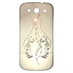 Music, Piano With Clef On Soft Background Samsung Galaxy S3 S Iii Classic Hardshell Back Case by FantasyWorld7