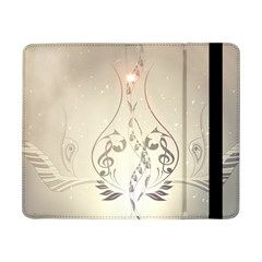 Music, Piano With Clef On Soft Background Samsung Galaxy Tab Pro 8 4  Flip Case by FantasyWorld7