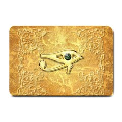 The All Seeing Eye With Eye Made Of Diamond Small Doormat  by FantasyWorld7