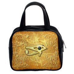 The All Seeing Eye With Eye Made Of Diamond Classic Handbags (2 Sides)