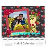 vivi2 - Wall Calendar 11  x 8.5  (12-Months)