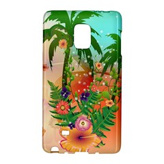 Tropical Design With Palm And Flowers Galaxy Note Edge by FantasyWorld7