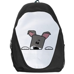Peeping Miniature Schnauzer Backpack Bag by TailWags