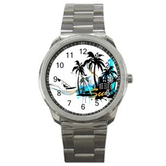 Surfing Sport Metal Watches by EnjoymentArt