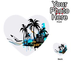 Surfing Multi Purpose Cards (heart)  by EnjoymentArt
