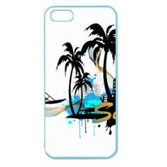 Surfing Apple Seamless Iphone 5 Case (color) by EnjoymentArt