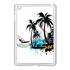 Surfing Apple Ipad Mini Case (white) by EnjoymentArt