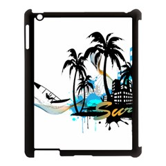Surfing Apple Ipad 3/4 Case (black) by EnjoymentArt