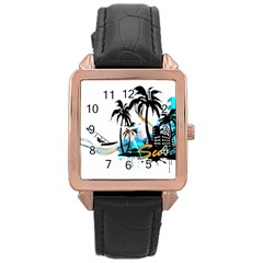 Surfing Rose Gold Watches by EnjoymentArt