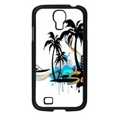 Surfing Samsung Galaxy S4 I9500/ I9505 Case (black) by EnjoymentArt