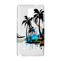 Surfing Samsung Galaxy Note 4 Hardshell Case by EnjoymentArt