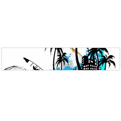 Surfing Flano Scarf (large)  by EnjoymentArt