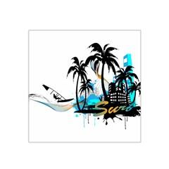 Surfing Satin Bandana Scarf by EnjoymentArt