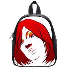 Women Face With Clef School Bags (small)  by EnjoymentArt