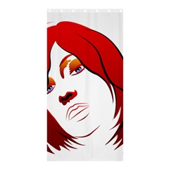 Women Face With Clef Shower Curtain 36  X 72  (stall)  by EnjoymentArt