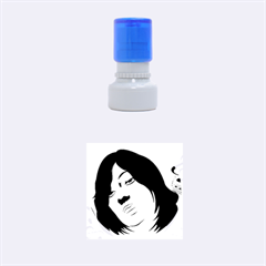 Women Face With Clef Rubber Round Stamps (small) by EnjoymentArt