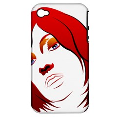 Women Face With Clef Apple Iphone 4/4s Hardshell Case (pc+silicone)