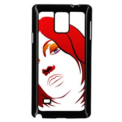 Women face with clef Samsung Galaxy Note 4 Case (Black) by EnjoymentArt