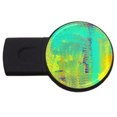 Abstract In Turquoise, Gold, And Copper Usb Flash Drive Round (2 Gb)  by theunrulyartist