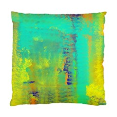 Abstract In Turquoise, Gold, And Copper Standard Cushion Cases (two Sides)  by theunrulyartist