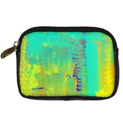 Abstract In Turquoise, Gold, And Copper Digital Camera Cases