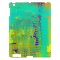 Abstract In Turquoise, Gold, And Copper Apple Ipad 3/4 Hardshell Case by theunrulyartist