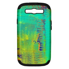 Abstract In Turquoise, Gold, And Copper Samsung Galaxy S Iii Hardshell Case (pc+silicone) by theunrulyartist