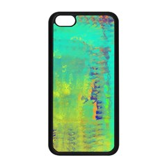 Abstract In Turquoise, Gold, And Copper Apple Iphone 5c Seamless Case (black) by theunrulyartist