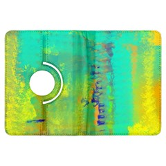 Abstract In Turquoise, Gold, And Copper Kindle Fire Hdx Flip 360 Case by theunrulyartist