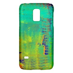 Abstract In Turquoise, Gold, And Copper Galaxy S5 Mini by theunrulyartist