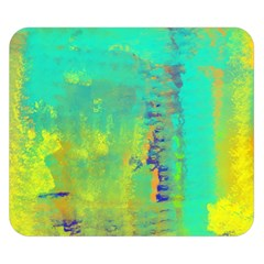 Abstract in Turquoise, Gold, and Copper Double Sided Flano Blanket (Small)  by theunrulyartist