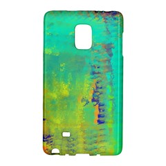 Abstract In Turquoise, Gold, And Copper Galaxy Note Edge by digitaldivadesigns