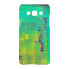 Abstract In Turquoise, Gold, And Copper Samsung Galaxy A5 Hardshell Case  by theunrulyartist