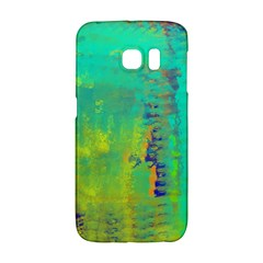 Abstract In Turquoise, Gold, And Copper Galaxy S6 Edge by digitaldivadesigns
