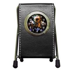 Wonderful Horses In The Universe Pen Holder Desk Clocks by FantasyWorld7