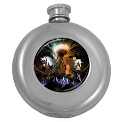 Wonderful Horses In The Universe Round Hip Flask (5 Oz) by FantasyWorld7