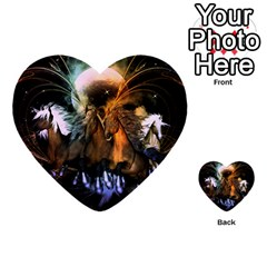 Wonderful Horses In The Universe Multi Purpose Cards (heart)